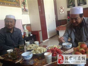天水有个星月糕点李总回故乡吃饺子