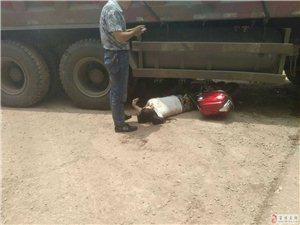 狮市镇发生一起车祸,大货车当场压死一人