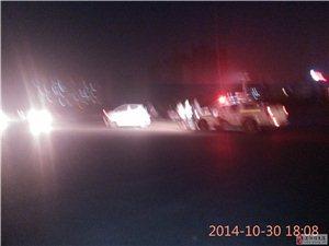 刚刚泰山路和湘江街交叉路口发生交通事故