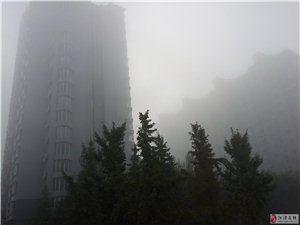 """河津今晨喜现""""海市蜃楼"""""""