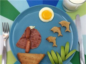 有人给你做这样的早餐,你还会赖床吗?