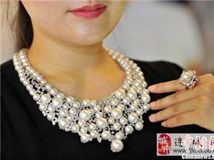 """价值288万元""""瀑布""""珍珠钻石项链亮相三亚"""