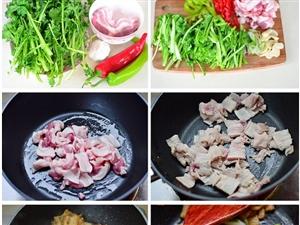10分钟搞定一道苔菜小炒肉