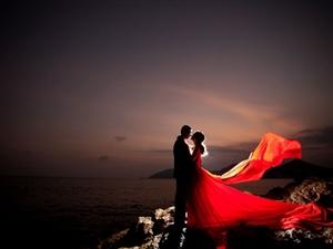 很美的婚纱照从粉佳人开始
