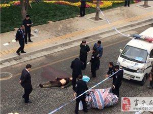 丈八路民工市场一男子当街杀人后自杀