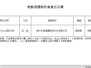 热烈祝贺中国内地首部MMA电影《恋战》备案成功并将于4月中北京开机
