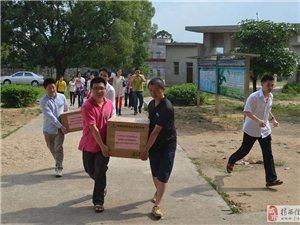 [原创]蓝海豚公益志愿服务队送书到龙潭道安小学