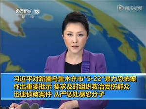 习近平对新疆乌鲁木齐暴恐案作出重要批示