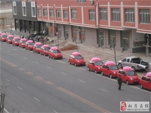QQ婚车队,这样的婚车也显得洋气