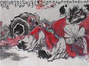 当代著名国画大师马林笔下的钟馗