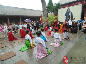 韩城文庙成人礼仪式――拜师礼花絮