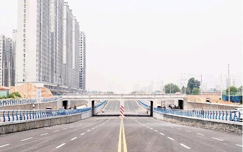 捉马大街(北一环路)铁路立交桥顺利通车