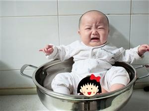 锅子的另一个用途(小糖豆百天写真)