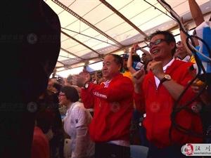 莫言现身世界杯决赛球场 表情淡然观战