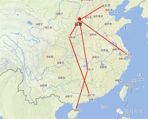 """吕梁=西安=广州""""航线将于7月26日首航"""