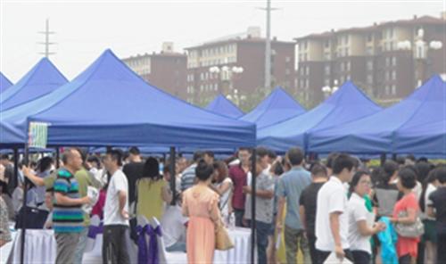 2014辽东湾重点项目单位大型招聘会现场