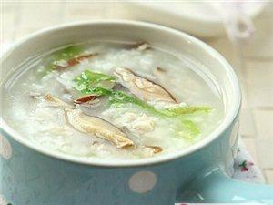 香菇青菜鸡肉粥
