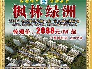 有钱吗?有钱还不买枫林绿洲的房子等啥呢?