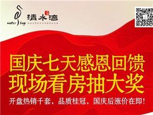贺浩华・清水湾开盘热销千套创一天近5亿销售奇迹,国庆七天感恩回馈!