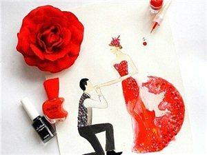 为你的婚礼带点灵感-有趣指甲油创意婚纱礼服