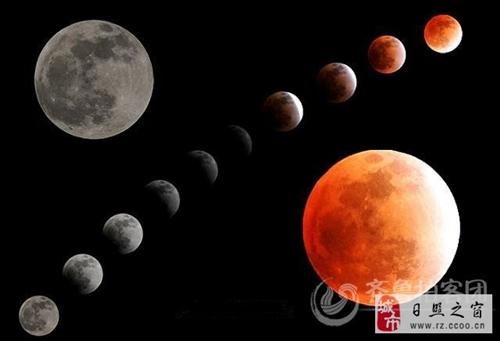 """日照""""红月亮""""  500年的第四次(组图)"""
