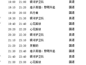 西岭国际影城 全部影厅2014-10-12放映计划表