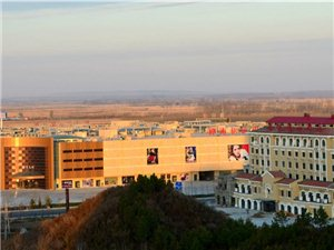 清晨的小城。桦南