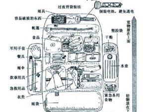 户外运动安全  整理背包20字真经