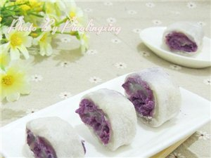 紫薯凉糕的做法