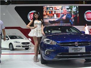南京菲亚特超短裙车模2014成都车展