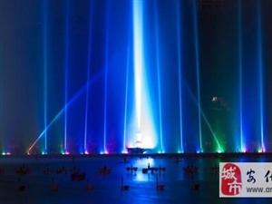 美轮美奂夜景LED喷泉设计