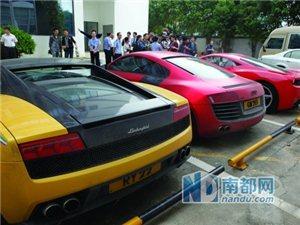 12辆香港豪车在深圳飙车