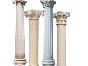 异形加工/泉州众磊石材/石材异形/栏杆线条圆柱台面压顶壁炉弧形板