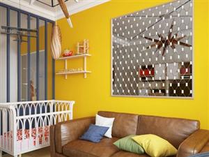 """临潼好""""色""""夫妻的小公寓装修设计,色彩炫丽惹你爱"""