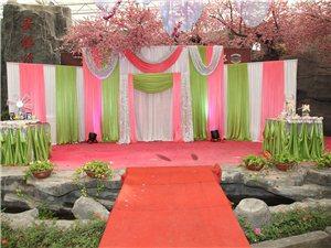 白粉绿  三色主题婚礼