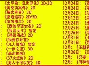 看看12月又有哪些新片上映啦!