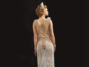 23个人花3年制作出来的181公斤的婚纱 到底有多夸张