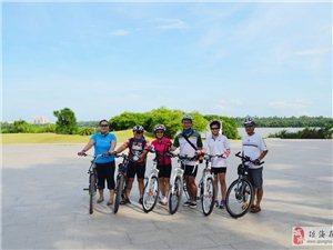 琼海在线溜溜自行车队骑行活动合影组图