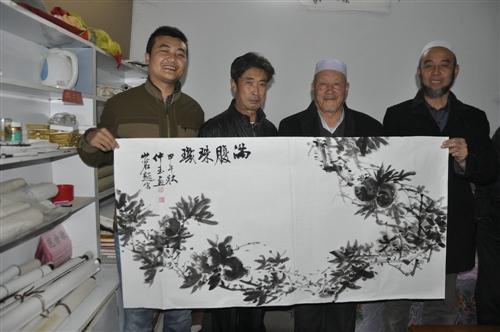 书协副主席朱山茗中国知名画家吴忠仲玉给张家川在线题词