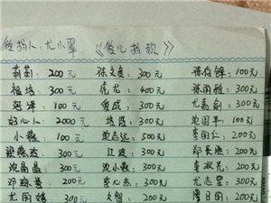 感谢这些好心人为《尤小翠》的爱心捐款