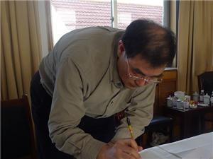 【转】中南新语:卢中南老师的执笔姿势