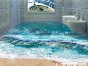 羡慕嫉妒恨啊~~壕家的3D浴室地板  我看看就好