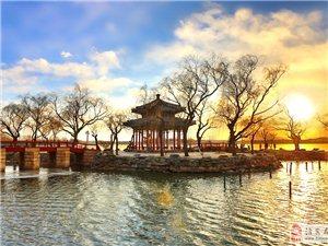 夕照昆明湖