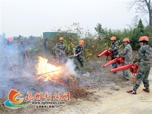 南丰开展冬季森林火灾应急演练