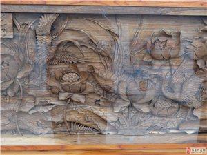 木刻画――高档茶具桌面