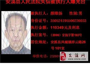 【曝光台】安溪县人民法院失信被执行人曝光(截止至2014年)