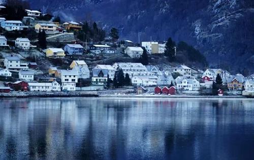 冬日美景挪威北部