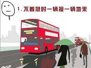 盘锦等公交车定律,真是太准了!