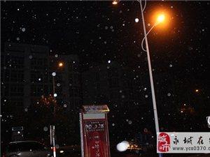 永城今冬的第一场雪终于来了,还好我们没放弃~