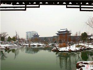 雪映古城墙